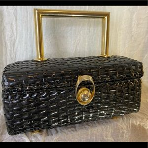 Simon of New York Black and Gold Purse